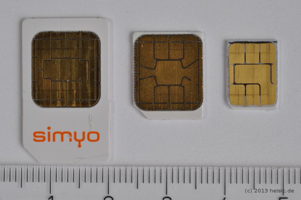 nano sim auf micro sim schneiden